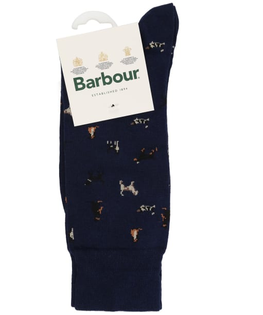 Men's Barbour Mavin Socks - Mid Blue / Dog