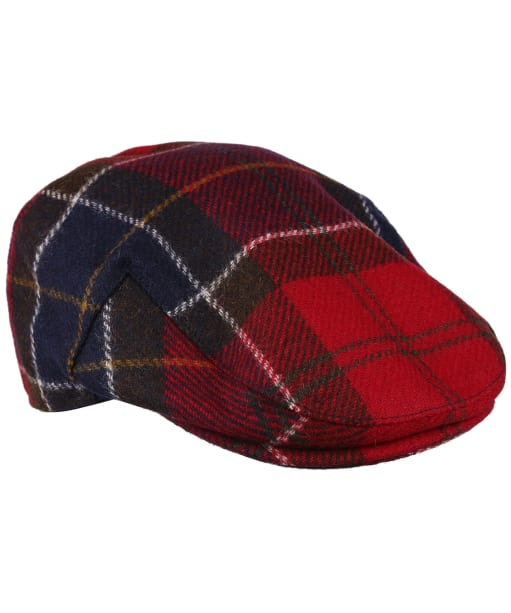 Men's Barbour Moons Tweed Cap - Red Tartan