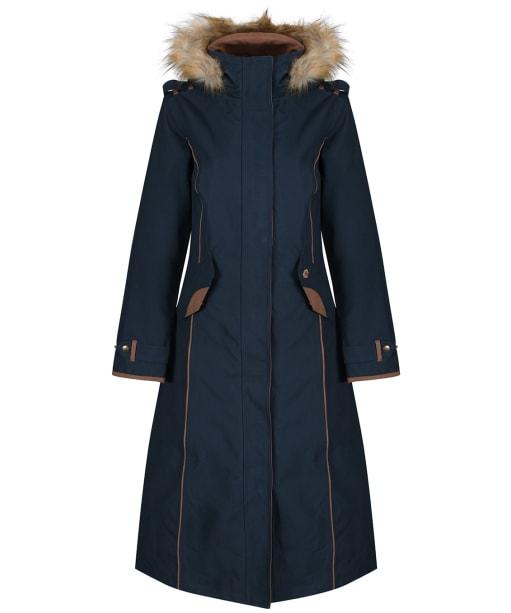 Women's Alan Paine Berwick Waterproof Long Coat - Dark Navy