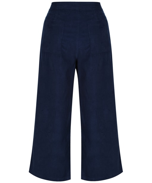 Women's Lily & Me Cropped Cord Trousers - Navy