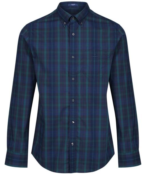 Men's GANT Tech Prep™ Plaid Broadcloth Shirt - Atlantic Deep