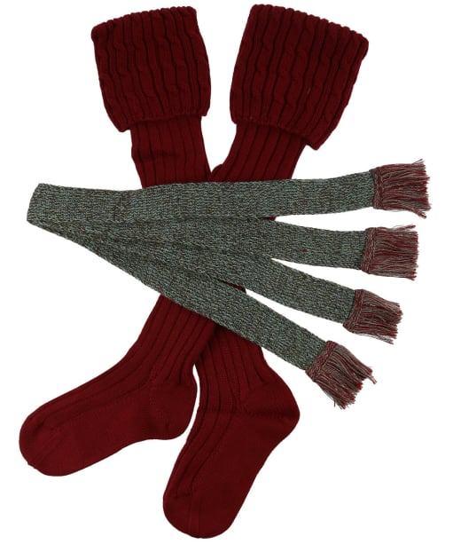 Women's Schoffel Lilymere Socks - Claret