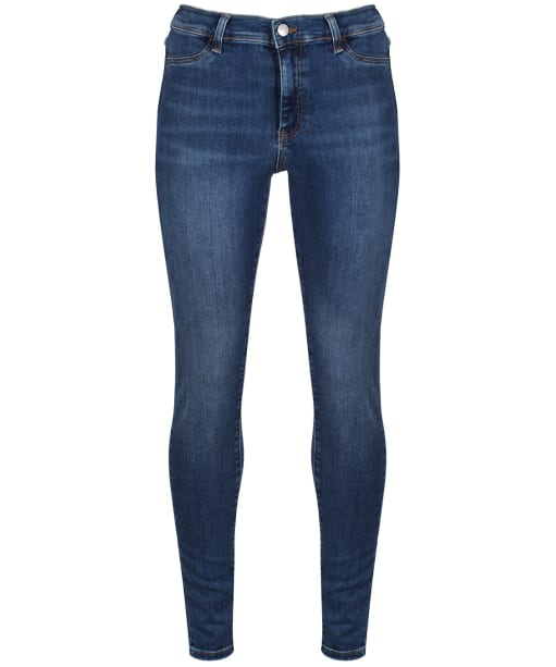 Women's GANT Skinny Fit Indigo Travel Jeans - Mid Blue Worn In