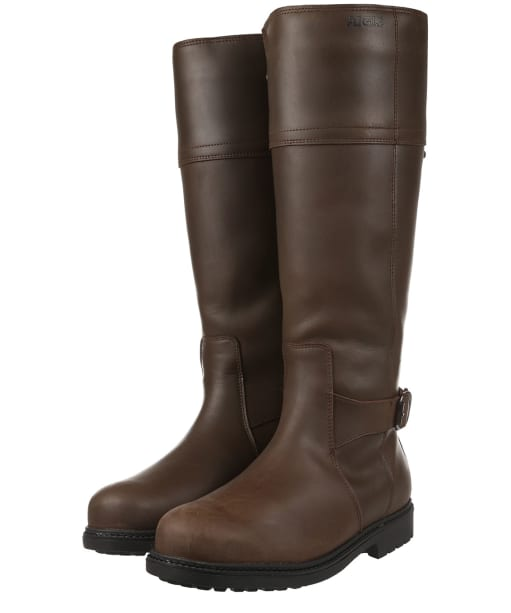Women's Aigle Parfield Leather Boots - Dark Brown