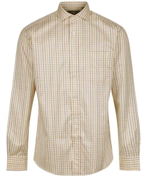 Men's Laksen Lucien Sporting Shirt - Bordeaux / Navy / Gorse