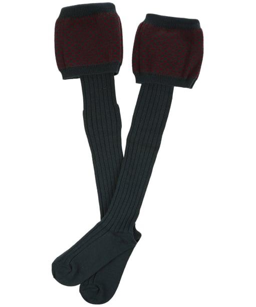 Men's Laksen Empire Shooting Socks - Pine / Bordeaux