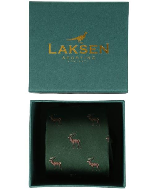 Men's Laksen Deer Tie - British Racing Green