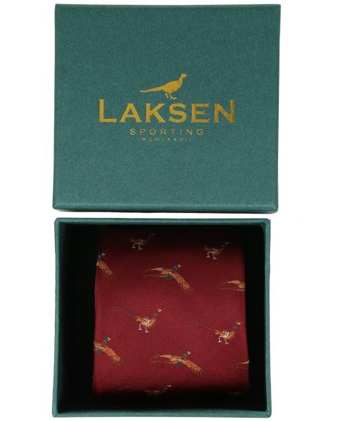 Men's Laksen Fly-By Pheasant Tie - Vintage Red