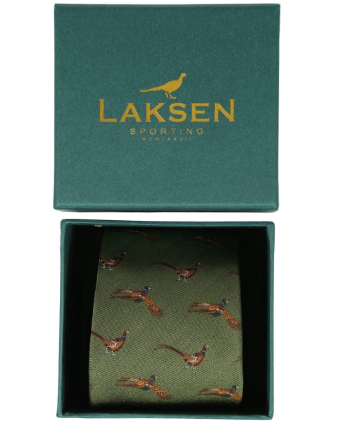Men's Laksen Fly-By Pheasant Tie - Ivy Green