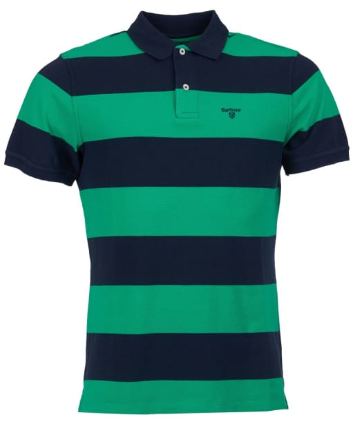 Men's Barbour Harren Stripe Polo Shirt - Bright Green