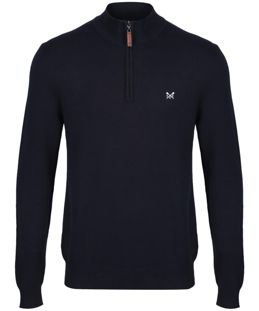 Men's Crew Clothing Classic ½ Zip Knitted Sweater - Navy