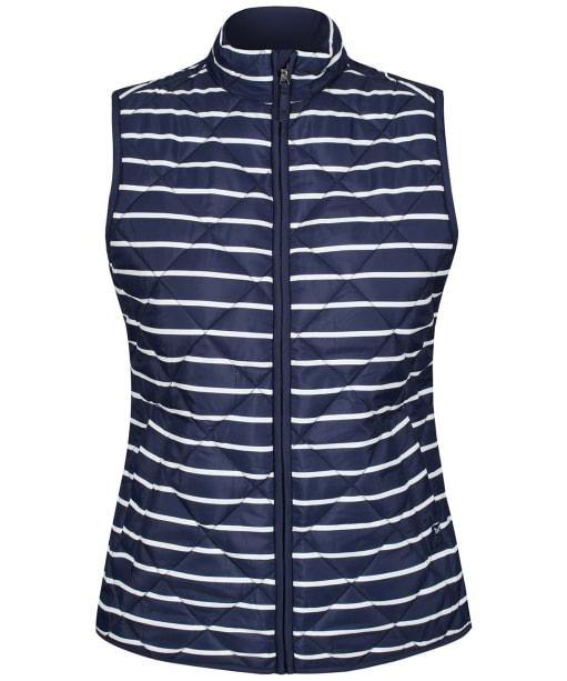 Women's Crew Clothing Stripe Gilet - Navy / White
