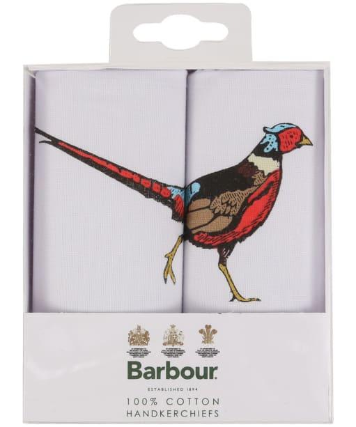 Men's Barbour Animal Hankerchief Gift Box Set - Pheasant