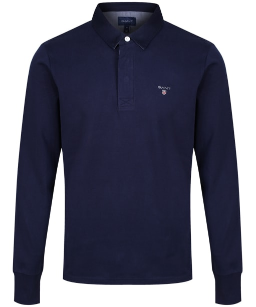 Men's GANT Original Heavy Rugby Shirt - Evening Blue