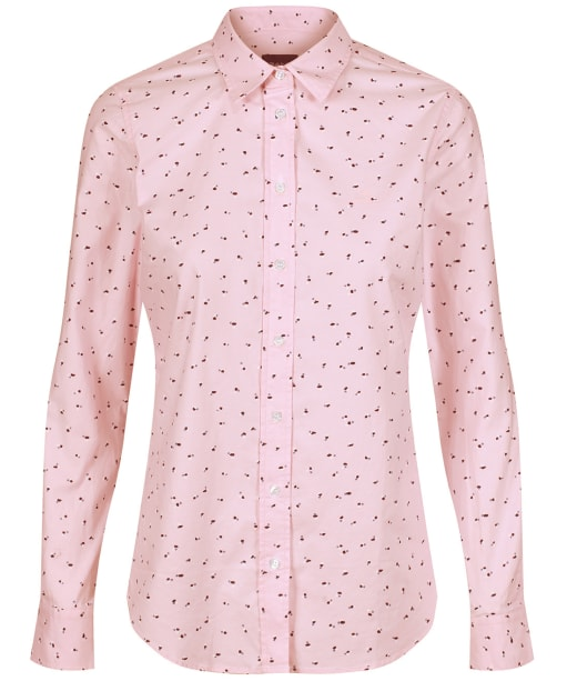 Women's GANT Lure Print Stretch Oxford Shirt - California Pink
