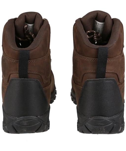Men's Aigle Diserre MTD Waxed Leather Boots - Dark Brown
