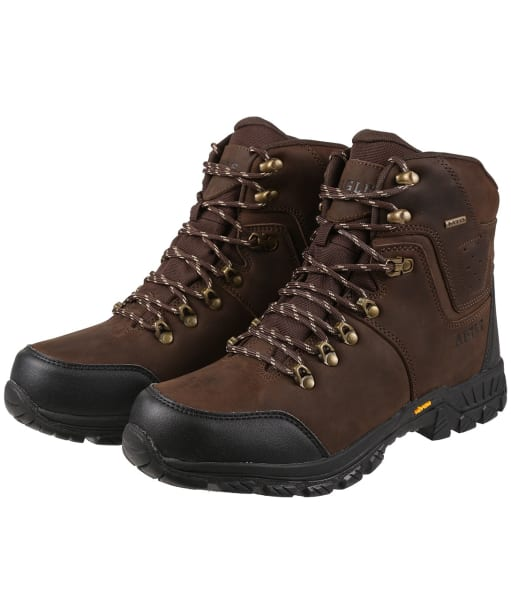 Men's Aigle Diserre MTD Waxed Leather Boots - Dark Brown
