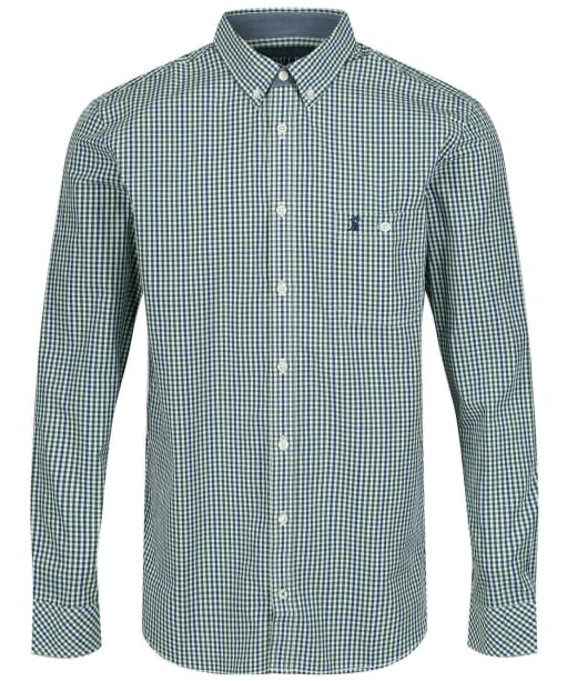Men's Joules Abbott Classic Fit Shirt - Green / Blue Check