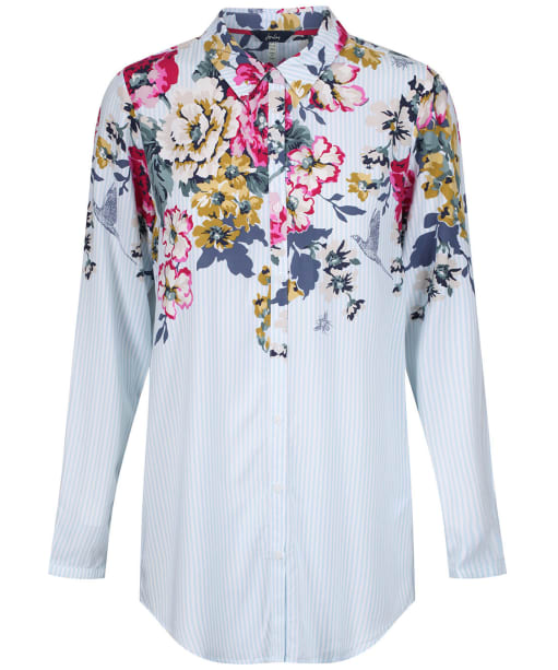Women's Joules Elvina Button Front Shirt - Anniversary Border Floral