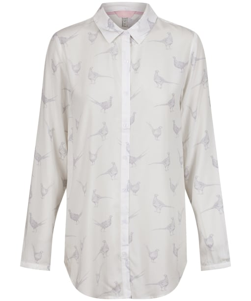Women's Joules Elvina Button Front Shirt - CREAM PHEASANTS