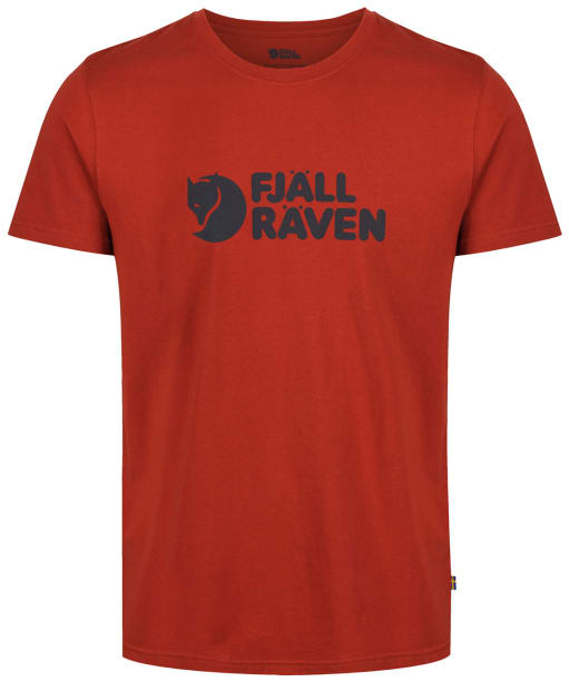 Mens Fjallraven Logo T-Shirt - Autumn Leaf