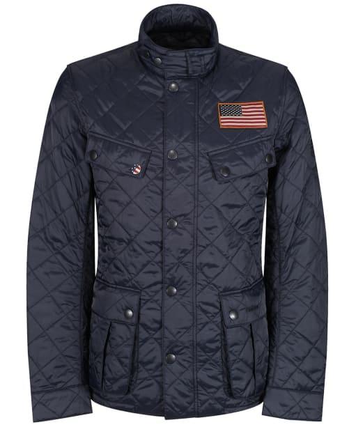 Men's Barbour Jeffries Quilted Jacket - Navy
