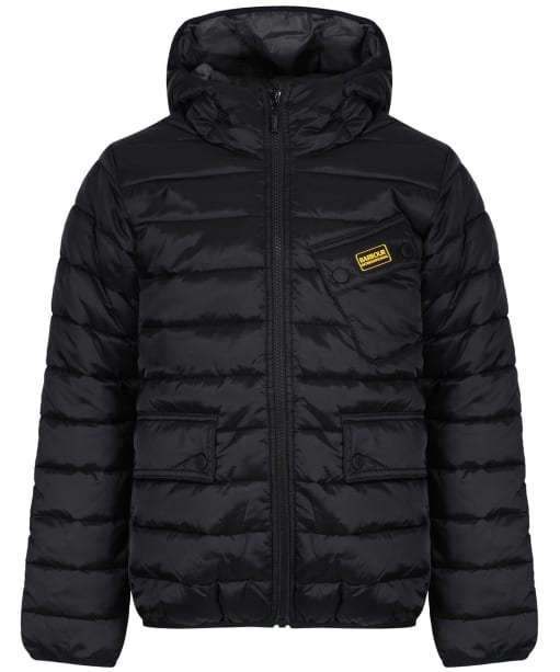 Boy's Barbour International Ouston Hooded Quilted Jacket, 10-15yrs - Black
