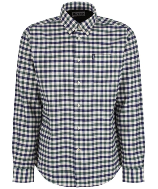 Men's Barbour Country Check 3 Tailored Shirt - NEW OLIVE CHECK