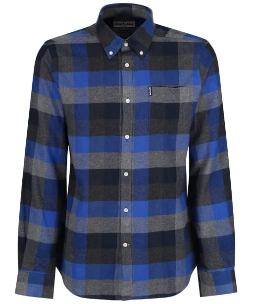 Men's Barbour Country Check 4 Tailored Shirt - Atlantic Blue