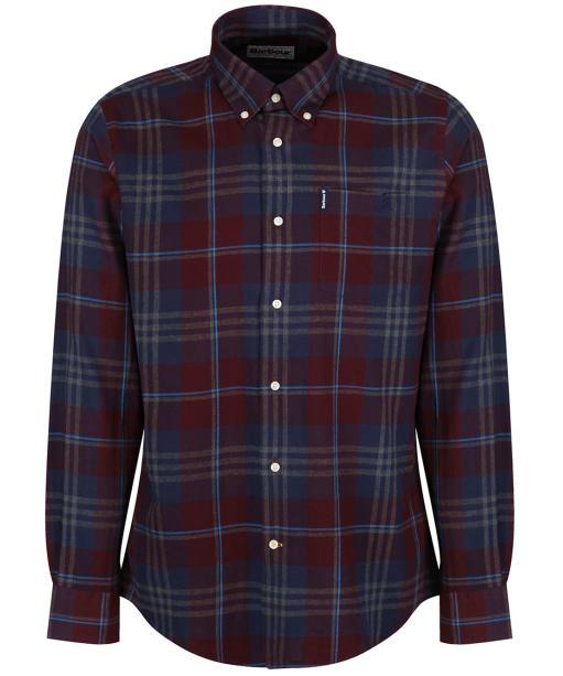 Men's Barbour Highland Check 7 Tailored Shirt - NEW MERLOT