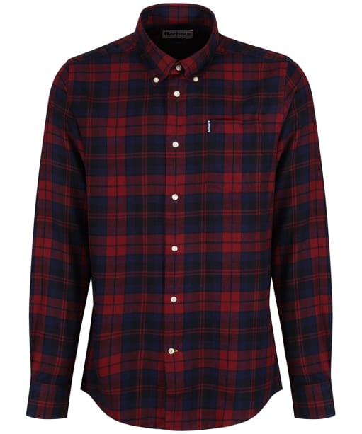 Men's Barbour Seth Tailored Shirt - Rich Red