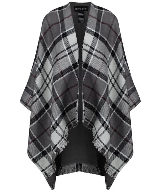 Women's Barbour Lomand Tartan Serape - Grey / Juniper