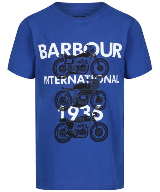 Boy's Barbour International Tri Bike Tee, 2-9yrs - Charge Blue