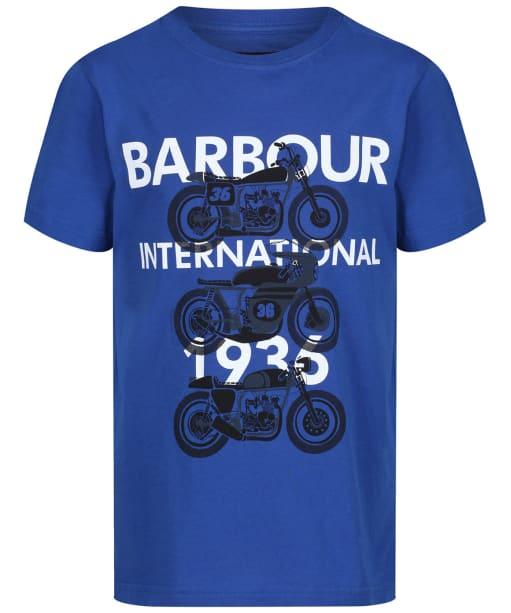 Boy's Barbour International Tri Bike Tee, 10-15yrs - Charge Blue