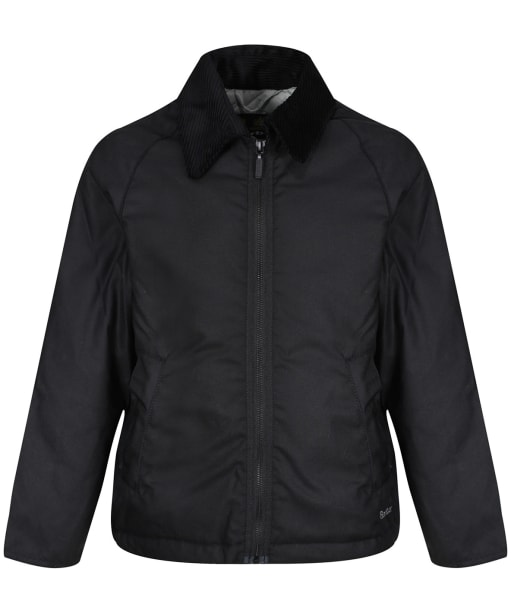 Boy's Barbour Winter Munro Waxed Jacket, 10-15yrs - Black