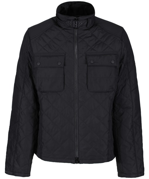 Men's Barbour International City Quilted Jacket - Black