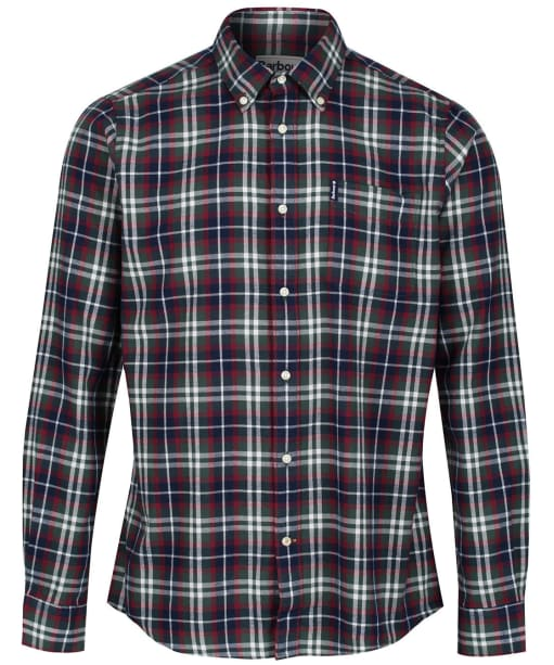 Men's Barbour Highland Check 15 Tailored Shirt - New Racing Green