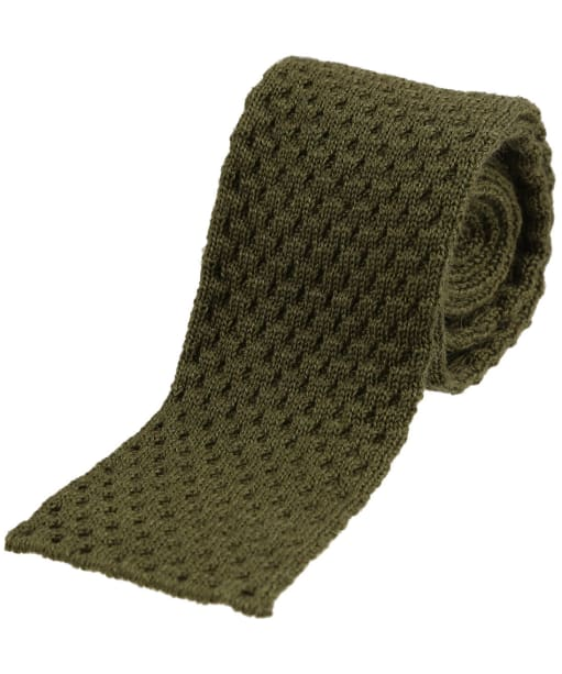 Men's Alan Paine Knitted Wool Tie - Olive