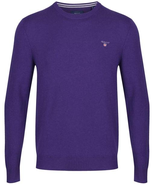 Men's GANT Super Fine Lambswool Sweater - Parachute Purple