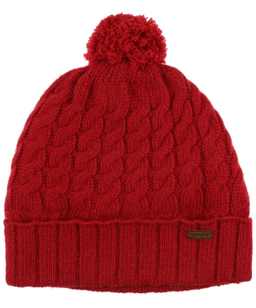 Women's Dubarry Athboy Knitted Bobble Hat - Cardinal