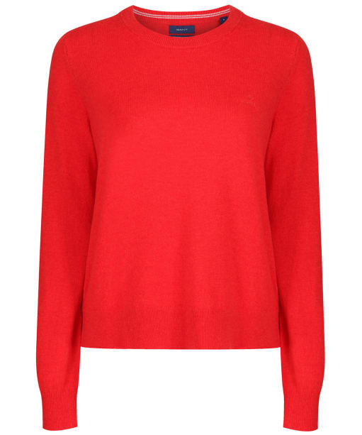 Women's GANT Lambswool Crew Neck Jumper - Blood Orange