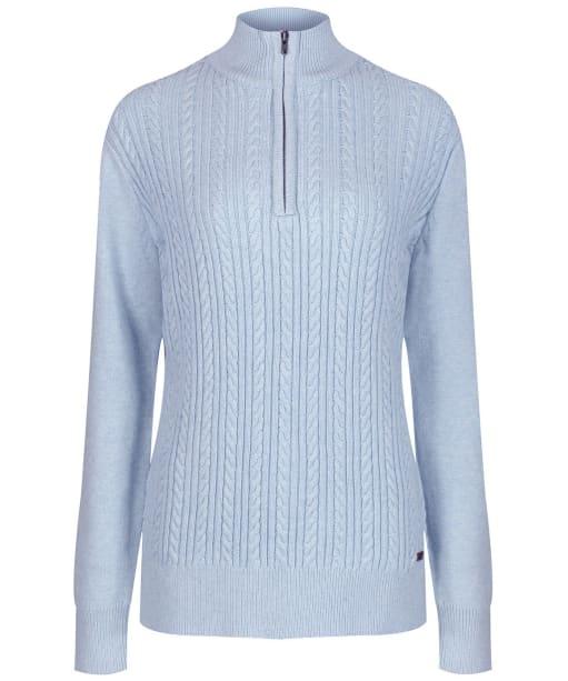 Women's Dubarry Garvey Half Zip Sweater - Pale Blue