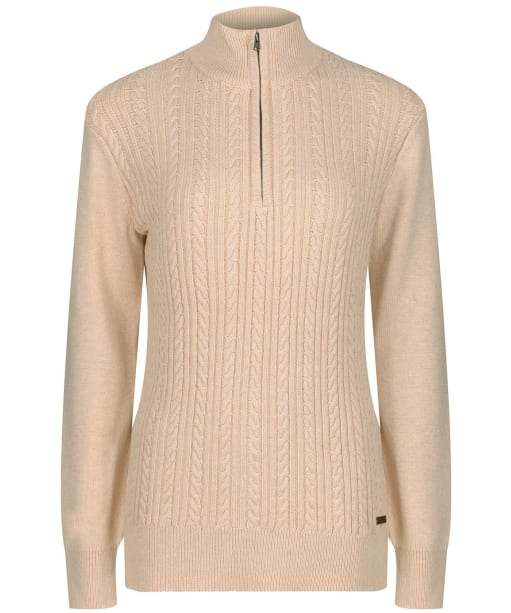 Women's Dubarry Garvey Half Zip Sweater - Oyster