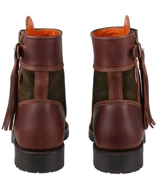 Women's Penelope Chilvers Inclement Cropped Tassel Boots - Seaweed / Conker