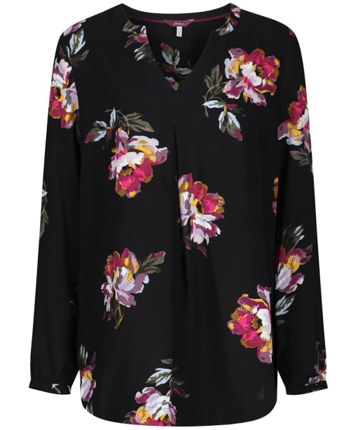 Women's Joules Rosamund Woven Top - Black Peony