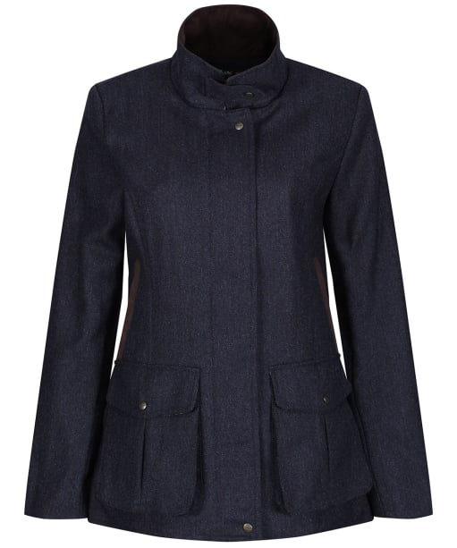 Women's Schoffel Lilymere Tweed Jacket - Navy Herringbone