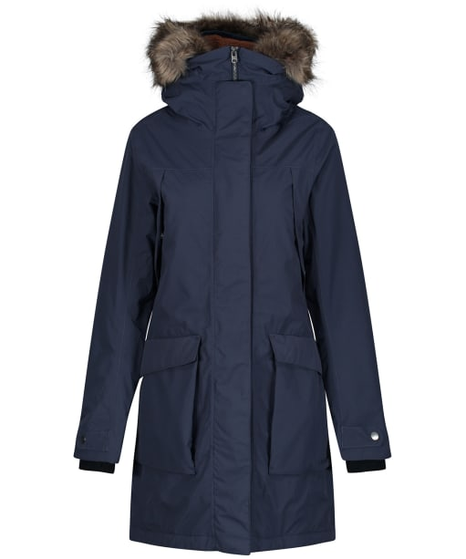 Women's Didriksons Malou Waterproof Parka - Navy Dust