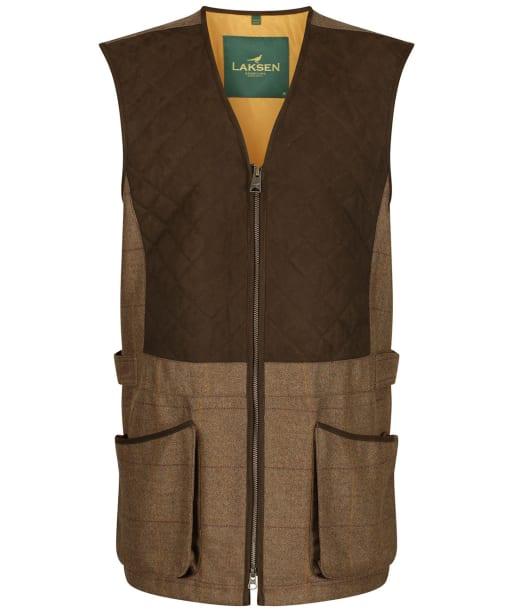 Men's Laksen Firle Tweed Glenogil Zip Shooting Vest - Firle Tweed