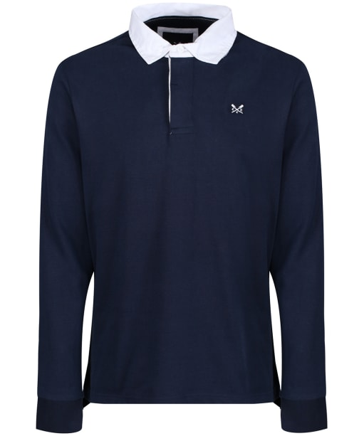 Men's Crew Clothing Long Sleeve Rugby Shirt - Navy