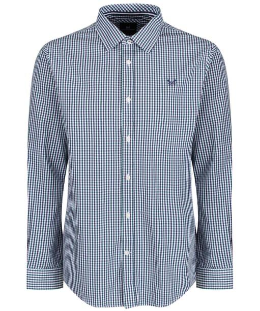 Men's Crew Clothing Classic Tattersall Shirt - Wash Ivy/Bright Navy